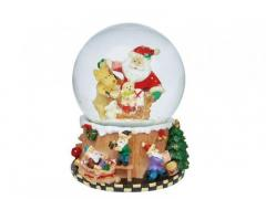 M7-330100, Music box with snow globe (Santa Claus)