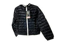 P-370013, Jacket, down jacket for girls , black-silver