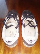 Selling white and black original Adidas Gazelle sneakers
